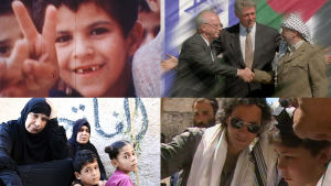 Kollaasi palestiinalaisista ja israelilaisista