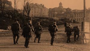 Saksalaisia sotilaita Helsingissä 12.4.1918.