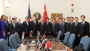 USA:s och Kinas representanter inledde en nu runda handelsförhandlingar i Washington i torsdags.