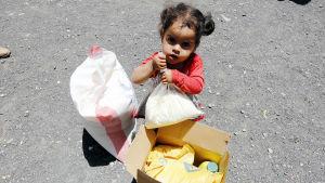 Bild på barn i Jemen.
