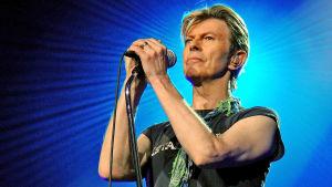 David Bowie lavalla Dublinissa 2003. Kuva konserttitaltiosta A Reality Tour.