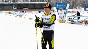 Matti Heikkinen kom i mål som tvåa.