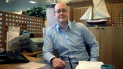 Fredrik Lindblom chef för Nordeas kontor i Kimito.