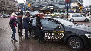 Taxipassagerare.