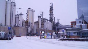 UPM-Kymmenes fabriker i Jakobstad.