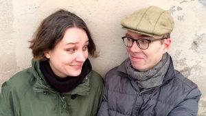 Pariskunta Petra Himberg ja Ville Hildén ovat Lii-Filmi Oy:n perustajien jälkeläiset.