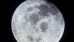 Kuu lähikuvassa.
