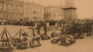 Saksalaisia sotilaita Helsingissä 1918.