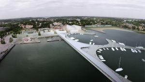 arkitektbild av gästhamnen i pargas
