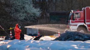 Flygplan kraschade i närheten av Egelsbach.