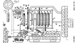 Enigma-salakirjoituslaitteen patentti
