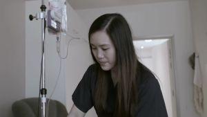 Charisse Ortiz arbetar på vårdhemmet i Fredrikshamn och har studerat till närvårdare.