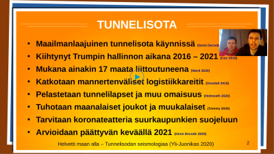 Skärmdump från Tokentube över bröderna Vapas tunnelkrig.