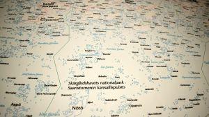 En karta över skärgården.
