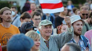Demonstranter i Minsk