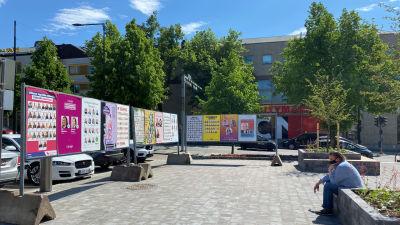 Valreklam i Borgå juni 2021