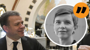 Petteri Orpo tittar på Jussi Halla-aho