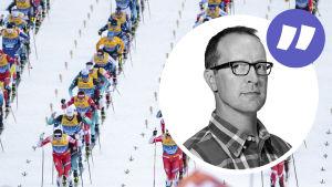 Bild av skidåkare med kommentarsstämpel med Christian Vuojärvi
