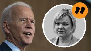 Joe Biden. Kommentarsstämpel av Mette Nordström