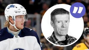 Patrik Laine i hockeyutstyrsel.