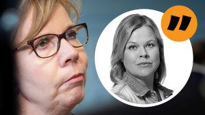 Anna-Maja Henriksson, kommentatorns bild infälld.