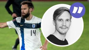 Tim Sparv i en landskamp mot Bosnien-Hercegovina.