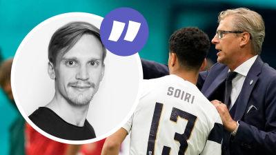 Markku Kanerva instruerar Pyry Soiri i EM.