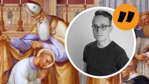 religiös målning av Saint Martin