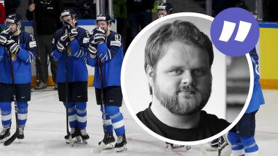 Finlands spelare följer med USA:s guldfest.