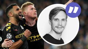 Manchester City firar mål (kolumnbild).