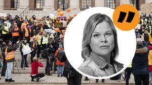 Kommentarsbyline för Svenska Yles reporter Ingemo Lindroos.