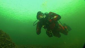 Jan-Ole Nordlin undervattnet
