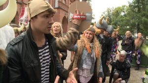 Janne Riiki på Peffans gulisintagning.