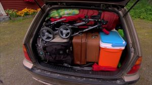 Färdigpackat för semesterresan.