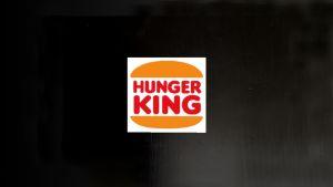 Jani Leinosen Hunger King -teoksen logo mustalla pohjalla