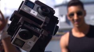 En GoPro-tärning med vilken man kan filma i 360 grader.