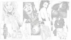 ASCII-merkeillä tehtyjä pornokuvia.