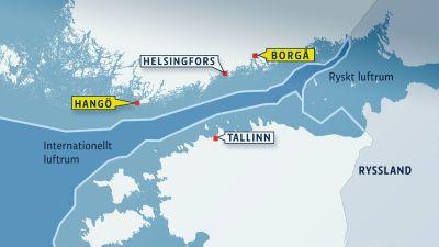 Ryssland har kränkt det finländska luftrummet igen.