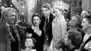Loppukohtaus elokuvasta Ihmeellinen on elämä (It's a Wonderful Life), USA 1946.