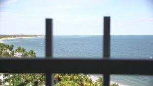 Utsikt från balkongen på tionde våningen i Key Biscayne.