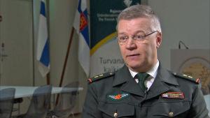 Generalmajor Ilkka laitinen är bidträdande chef vid Gränsbevakningsväsendet.