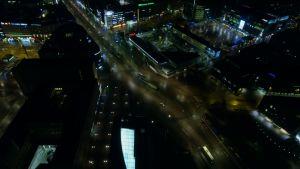 Helsingfors på natten.