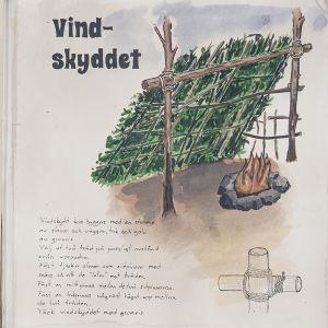 Brorsornas bok; bygg ett vindskydd!