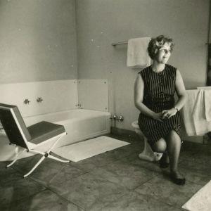 Meri Louhos hotellissa Belgiassa 1969.