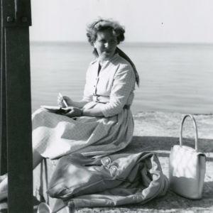 Meri Louhos Ontario-järvellä 1960.