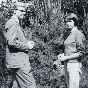 Erkki ja Anja Salmenhaara kesällä 1961.