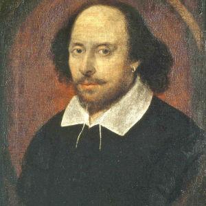 Porträtt på William Shakespeare.