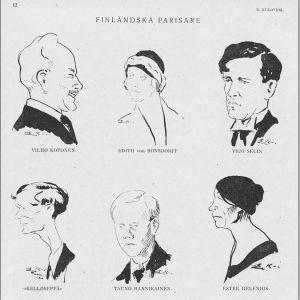 Kulttuurilehti Kerberoksen kesäkuun 1921 numero kertoi vain Pariisista.