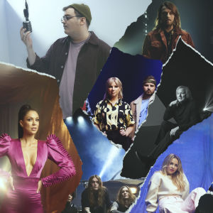 Uuden musiikin kilpailun osallistujat kollaasissa
