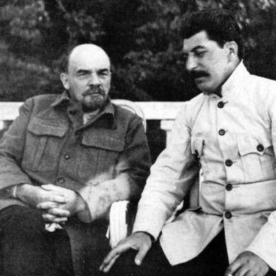 Lenin och Stalin i Gorki 1922